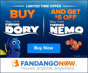 FandangoNOW - Buy Finding Dory and Get $5 Off Finding Nemo