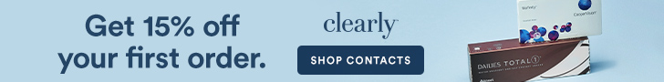 New Clearly Customers get 15% off your first order of contacts