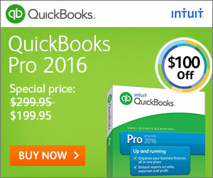 QuickBooks Pro 2016 Software - Enjoy $100 off! Save Time & Get Organized!