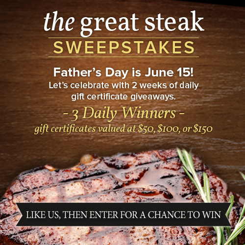 The Great Steak Sweepstakes...