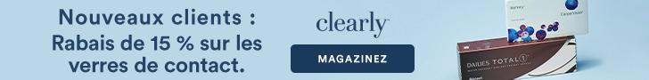 Nouveaux clients - Rabais de 15% sur les Verres de Contact chez Clearly avec code NEWG2R3L