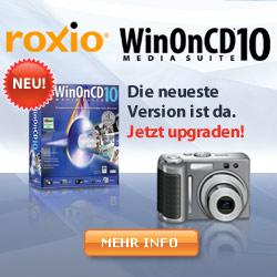 Jetzt WinOnCD 9 für 39,99 EUR (anstatt 49,99 EUR) plus kostenlosem Samsung DVD-Brenner kaufen!