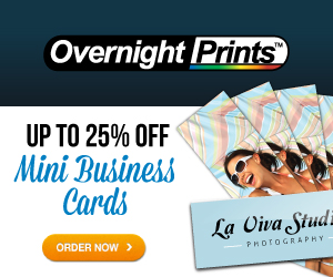 Up to 25% Off Mini Business Cards