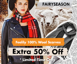 100% Wool Scarf Time-Limited Offer Got 50% Off!