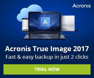 AU Acronis True Image 2018 - New Customer Try