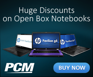 PCM Open Box Notebooks