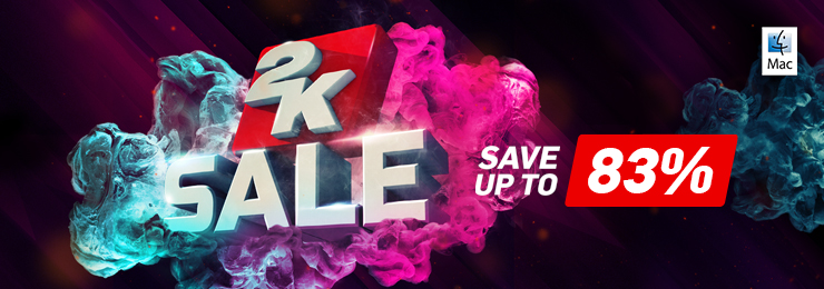 GamersGate - Save Upto 80% OFF ON All 2K games for Mac by Aspyr