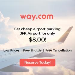New York JFK Airport Parking $8.00