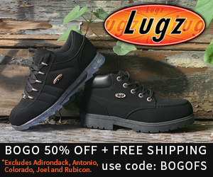 Buy One Get One 50% Off, Plus FREE Shipping at Lugz.com with code BOGOFS Offer expires 9/16