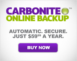 Protect your files with Carbonite Online Backup