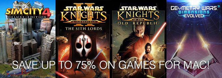 GamersGate - Games for Mac by Aspyr Save Upto 75% OFF