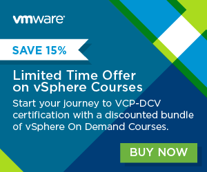 Save 15% on VMware Training and Education