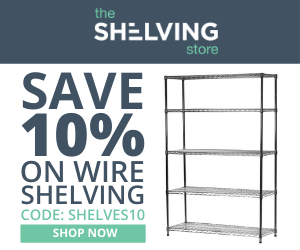 300x250 Wire Shelving Coupon - Ends Oct. 22nd