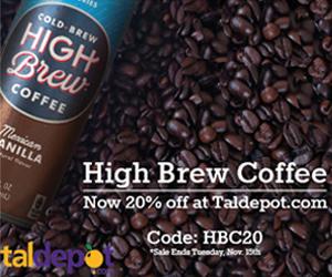 Get 20% OFF High Brew Coffee at TalDepot