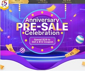 UP to 60% OFF Anniversary Pre-Sale Celebration starts now