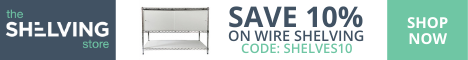 468x60 TSS Wire Shelving Coupon - Ends Oct. 22nd