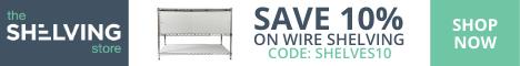 Shelving Inc. - 468×60 TSS Wire Shelving 10% OFF Coupon