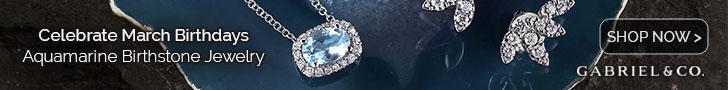 March Birthstone Aquamarine Fine Jewelry Banner