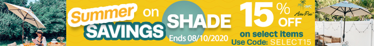Summer Savings on Shade! 15% Off on Selected Items Plus Freeshipping! Use Code SELECT15. Ends 08/10/
