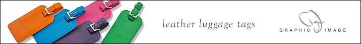 Graphic Image Brights Leather Luggage Tags