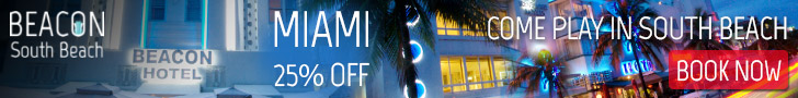 Miami Beach Hotels - Book Your Stay at the Beacon Hotel at 20% Off