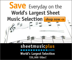 Sheet Music Plus 300 x 250 Generic Banner
