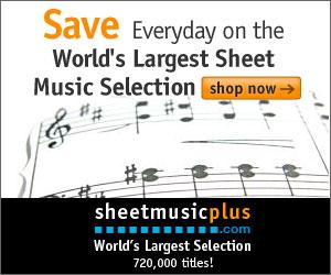 Sheet Music Plus 300 x 250 Generic Banner