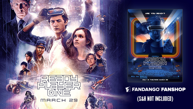 Free Exclusive Poster with purchase of tickets for 'Ready Player One'