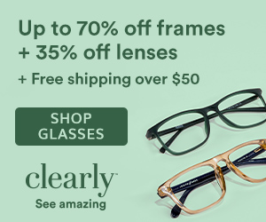 1000s of Frames Up to 70% off + 35% off Lenses + Free Shipping over $50