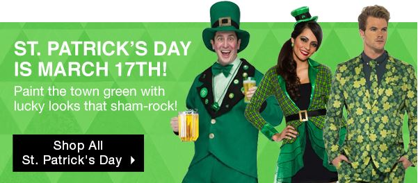 BuyCostumes line of St. Patrick's Day Costumes!