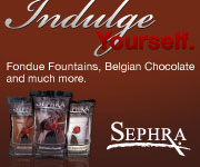 Sephra Chocolate Packages with Bamboo Skewers