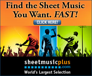 Sheet Music Plus 300 x 250 Rock Banner