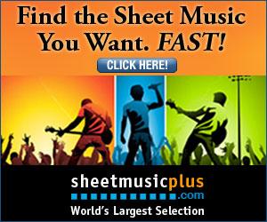 Sheet Music Plus 300 x 250 Rock Banner