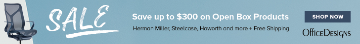 Save up to $300 on Open Box Products from Herman Miller, Steelcase, Haworth and more while supplies