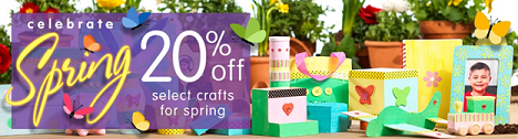 SAVE 20% & More Off Select Arts & Crafts Products For Spring & Get Free Shipping On Orders $33!