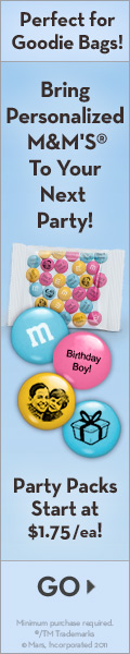 M&M Personalized Chocolate Candy Party Favors