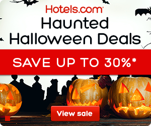 Hotels.com Halloween Sale