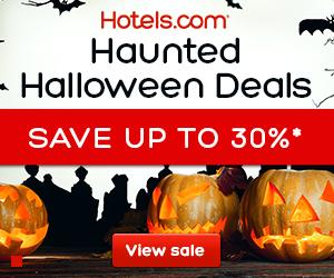 Hotels.com Halloween Sale