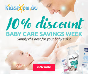 kidsroom.de - 10% off baby care products