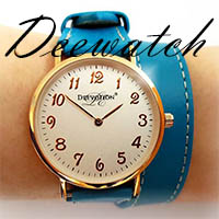 Deewatch Blue Leather Watch