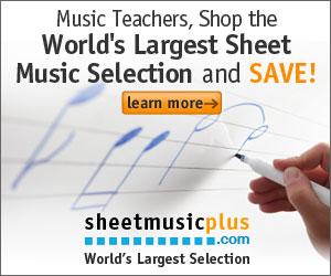Sheet Music Plus 300 x 250 Teacher Banner