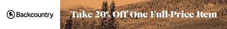Take 20% Off One Full-Price Item at Backcountry.com!