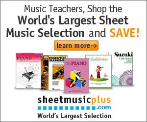 Sheet Music Plus 300 x 250 Teacher Banner 2
