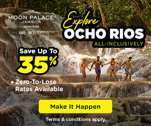 2 for 1 in Paradise at Moon Palace Jamaica.