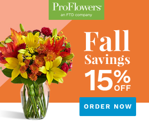 ProFlowers Promo Code 2018 - 15% off Fall Flowers & Gifts at ProFlowers