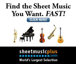 Sheet Music Plus 300 x 250 Variety Banner