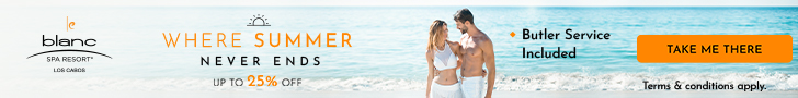 Make up for missed travel. Reserve 1 room, receive 1 room free at Le Blanc Los Cabos.
