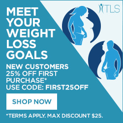 Image for (TLS) Fall Special! New Customers get 25% OFF first purchase of weight loss and diet products at tlsSlim.com! Use coupon code FIRST25OFF. $25 max savings. $99 Ships Free! SHOP NOW! (ends 10/31)