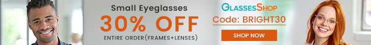Take 30% Off Entire Order (Lenses & Frames) at GlassesShop.com with Code BRIGHT30. Offer expires 6/3