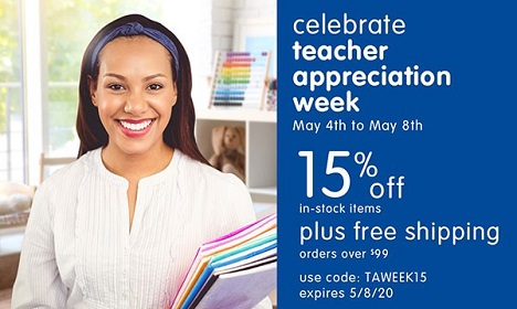 Teacher Appreciation Week Sale! Save 15% Off In-Stock Products + Free Shipping On Orders $99+